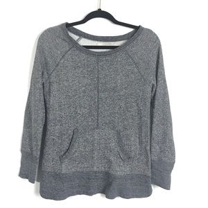 3/$25 LOFT Gray Sweatshirt With Pockets Small
